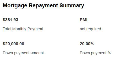 Mortgage payment 1